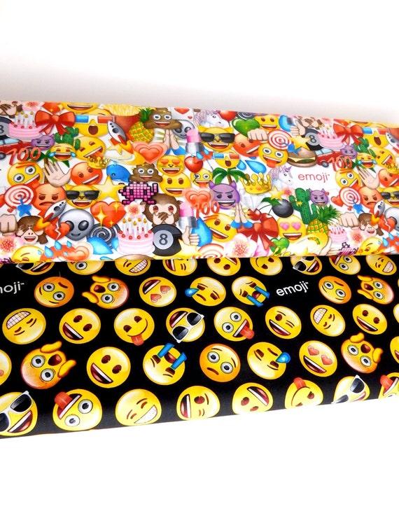 Emoji fabric emoticons fabric bundle of 2 fabrics choose for Emoji fabric