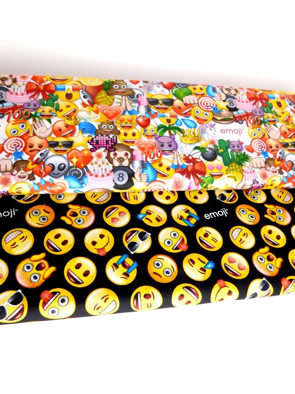 Emoji fabric emoticons fabric bundle of 2 fabrics choose for Emoji material by the yard