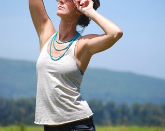 Yoga Layering Racerback Tank Top for Women - Organic Cotton Yak Down Jersey -  Organic Clothing
