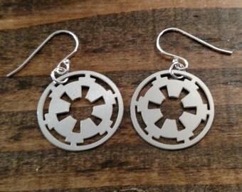 Imperial Cog Star Wars earrings