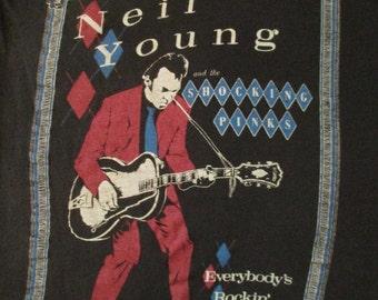 NEIL YOUNG 1983 tour T SHIRT