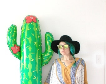 Cactus Tassel Balloon, Mexican Fiesta Party Decor, Photo Booth Prop, Taco Bar, Cinco de Mayo, Bachelorette Party Decorations, Western Cowboy