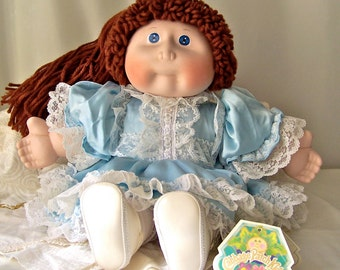 Vintage Cabbage Patch Kids Cori Lynne 1985 Porcelain Cabbage Patch Doll Applause Doll Collector Yarn Hair Pinafore