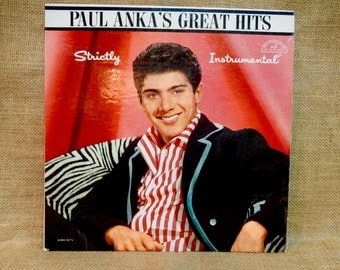 PAUL ANKA - Strictly Instrumental - 1961 Vintage Vinyl Record Album