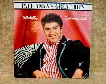 PAUL ANKA - Strictly Instrumental - 1961 Vintage Vinyl Record Album