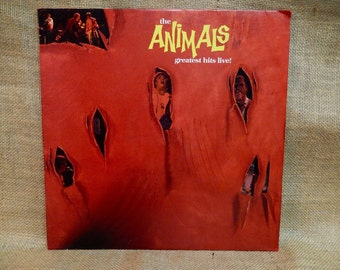 THE ANIMALS - The Animals Greatest Hits Live! -  1984 Vintage Vinyl Record Album