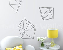 Geometric Diamonds Wall Decals, Geometric Shapes Home Decor Removable Wall Decals, Geometric Vinyl Wall Stickers, Geometric Wall Decor