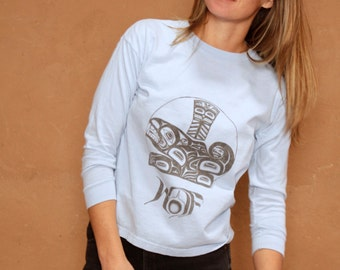 blue ALASKA native american long sleeve t-shirt