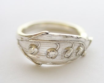 Antique Sterling Silver Ring-  Lily Of The Valley, 1917