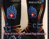 Size 12 Kids  Hand Painted Rez Hoofz   Please Read full description below