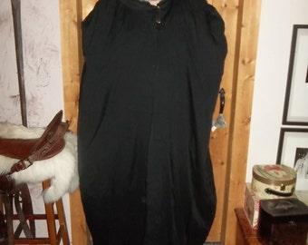 black twill cloak gold pin