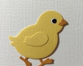 4 Baby Chick Die Cut Embellishments for Scrapbooking Cards and Paper Crafts Easter Chicken Farm Free Post Australia