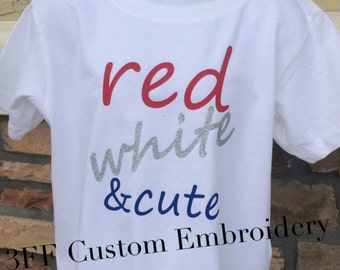 CHILD Red White and Cute Tee