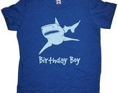 Birthday Shark Shirt - Shark Birthday Boy Tee - Shark Attack T Shirt - 7 Colors - T shirt Sizes 2T, 4T, 6, 8, 10, 12 - Gift Friendly