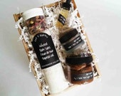 Mini Spa Box  -  Skincare Gift Set -  Bath Salt - Face Mask - Facial Serum - Foaming Sugar Scrub - Wife Gift - Mom Gift - Gift For Her