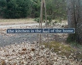 FOUR FOOT LONG The Kitchen Is The Heart Of The Home Distressed Wood Sign