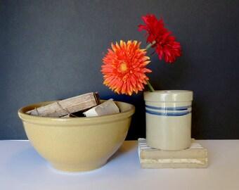 "Vintage Large Pottery 12"" Bowl Kitchenware Baking Cookies"