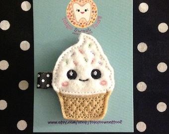 Kawaii Ice Cream Cone Hair Clip !!