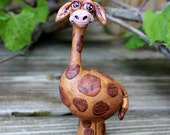 Reserved for brooke/kierre Giraffe Polymer Clay Sculpture