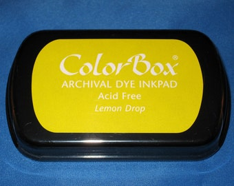 Yellow Ink Pad Color Box Archival Dye Inkpad Lemon Drop Permanent Ink Pad for Your Custom Stamp Pad Lemon Yellow
