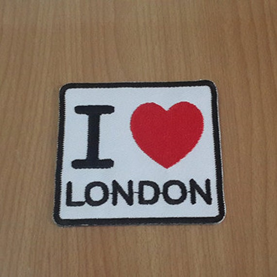 I love london embroidered iron on patch size quot