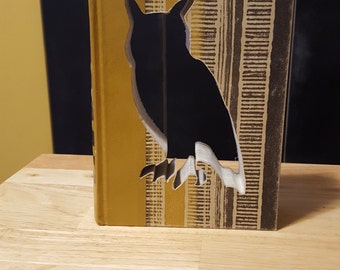 Upcycled Book Decor - Great Horned Owl