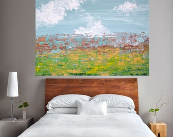"""Made to Order-Choose Size (30x40 pictured) Original Abstract """"Lay of the Land"""" Original Art"""