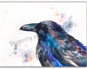 "Notecard ""Raven"" by Sandi McGuire"