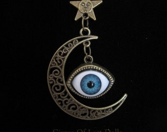 Eye of the witch black magic necklace