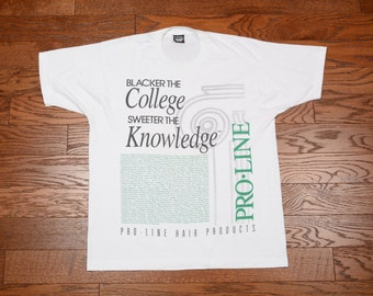 vintage 90s Blacker the College Sweeter the Knowledge t-shirt HBC African American culture black college hip hop XL