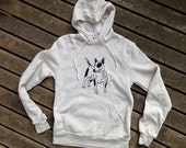 Bull Terrier Hoodie, Gift for a Dog Lover, Gym Shirt, S,M,L,XL,2XL