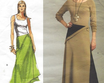 Sandra Betzina Womens Ankle Length Skirt with Godet Vogue Sewing Pattern V2969 Size 10 to 26 Hip 26 28 30 32 35 37 41 44 47 50 UnCut
