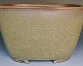 Glazed Bonsai Pot - Square Cascade with Rounded Corners