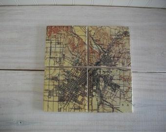 Topographic Map Etsy - Los angeles topographic map