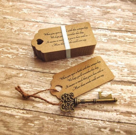 skeleton key bottle openers poem thank you tags. Black Bedroom Furniture Sets. Home Design Ideas