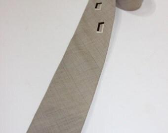 vintage 1960's -Price- neck tie. Lightweight - Cotton / Rayon blend. Embroidered design accent