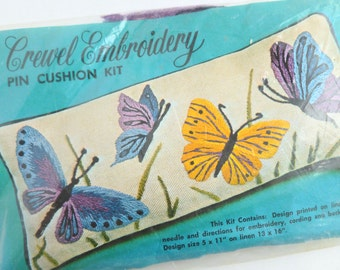 Crewel Embroidery Pin Cushion Kit by Needlecraft House Unfinished KC309
