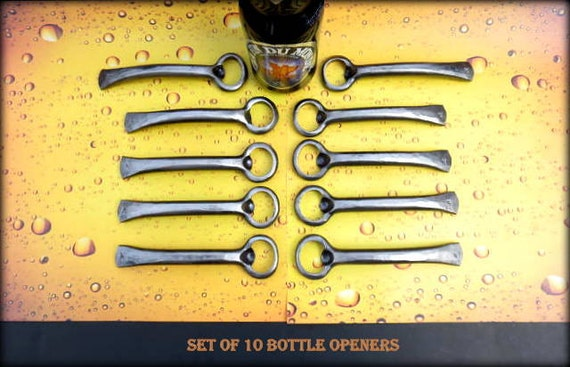 10 GROOMSMEN GIFTS Bottle Openers - Personalized Option Available - Hand Forged by Naz - Gifts for Groomsmen Ushers  Engagement  Gift  Men