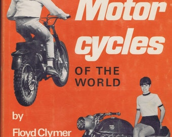 A Treasury of Motor Cycles Book by Clymer Antique Vintage History Transportation Photographs