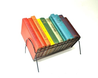 Mid-Century Metal Desktop Book Rack - Desktop Bookshelf