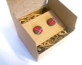 Men's cuff links red Pride of Wales tartan cuff links, wedding gifts, wedding cuff links