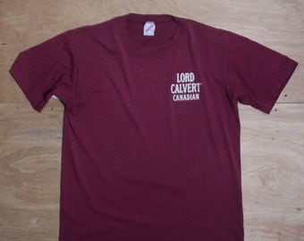 LRG | Vintage Lord Calvert Canadian Whiskey T Shirt Jerzees 50/50