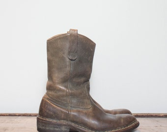8 B | Men's Vintage Browning Sportsman Boots Pull On Pecos Style Hunting Boot