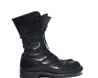 8.5 M | Women's Corcoran Combat Boots Paratrooper Jump Boots Military Lace Up Cap Toe Boot