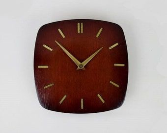 Mid Century Wood Wall Clock