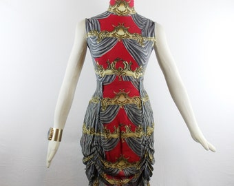 Vintage RAre CHLOE By LAGERFELD BODYSUIT And Tiered High Waisted Skirt Regal Mogul Design Sz 40