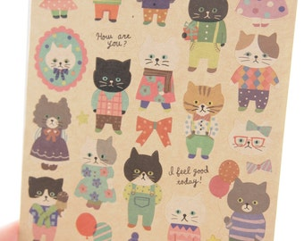 Lovely Cat Sticker (1 Sheet)