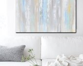 ORIGINAL Art Abstract Angel Painting Light Blue Mom Day Gift Wall Art Acrylic Painting Home Decor Spiritual Art Textured- Christine Krainock