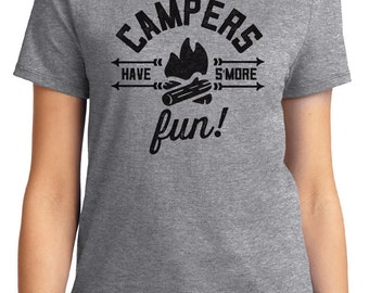 Campers Have 'Smore Fun! Camping Unisex & Women's T-shirt Short Sleeve 100% Cotton S-2XL Great Gift (T-CA-26)