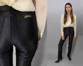 Vintage 70s Le Gambi Disco Pants, Lycra Skinny Pants, Slinky Pants, Shiny Leggings Δ size: xx-sm / x-sm